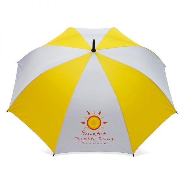 ร่มขนาดกลาง 28นิ้ว สีขาวเหลือง งานsunset