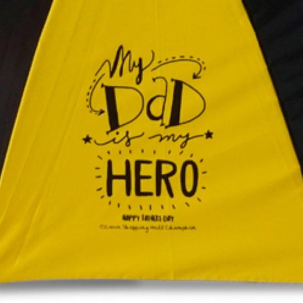 ร่มขนาดเล็ก 22นิ้ว สีเหลืองดำ งานDadHero