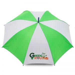 ร่มขนาดเล็ก 22นิ้ว สีขาวเขียว งานGreen