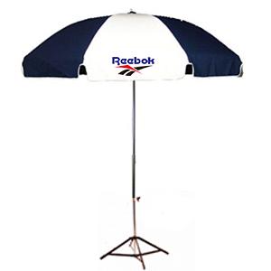 ร่มสกรีนร่มสนาม สีขาวน้ำเงิน reebok