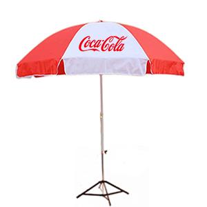 ร่มสกรีนร่มสนาม สีขาวแดง โค้ก