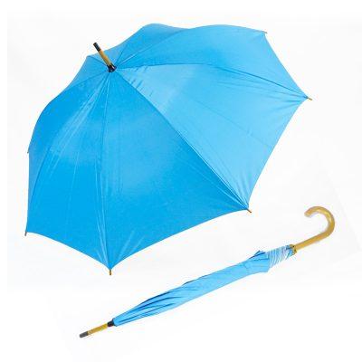 ร่มขายส่งโครงไม้24นิ้ว-สีฟ้า-01
