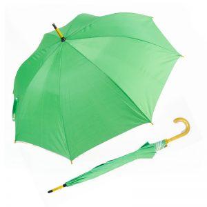 ร่มขายส่ง โครงไม้ สีเขียว