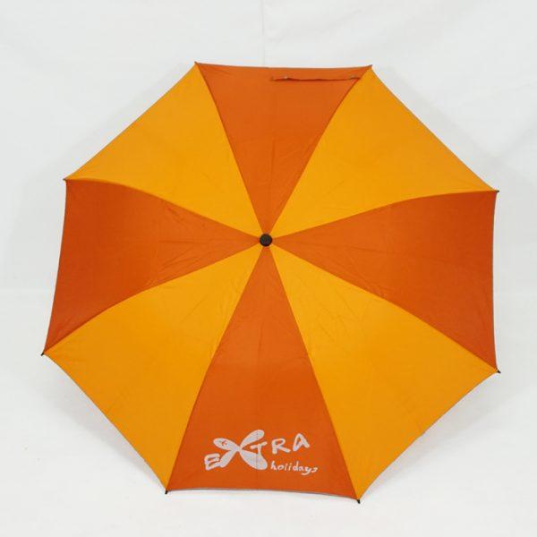 ร่มพับ2ตอน สีส้มสลับเหลือง งานExtraHolidays