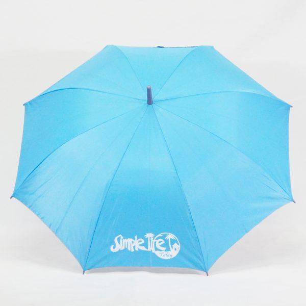ร่มขนาดกลาง24นิ้ว สีฟ้า Simplelife