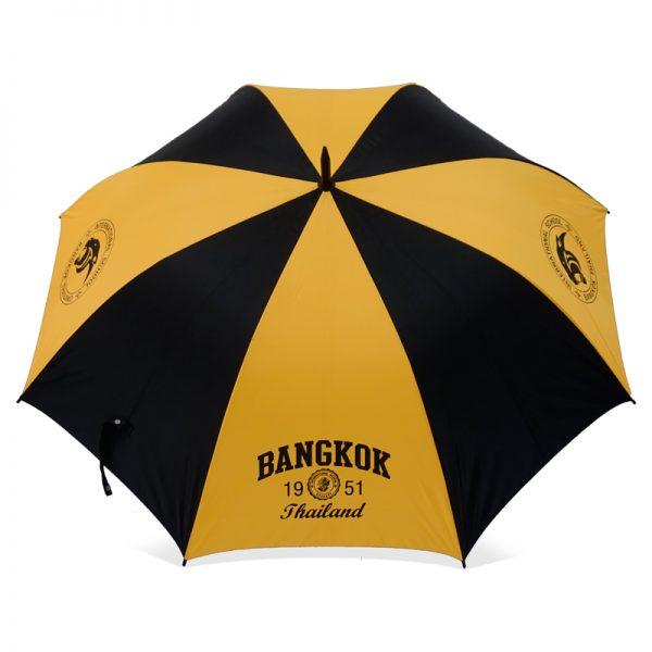 ร่มขนาดกลาง 28นิ้ว สีเหลืองดำ งานBangkok