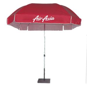 ร่มสกรีนร่มสนาม สีแดง AirAsia