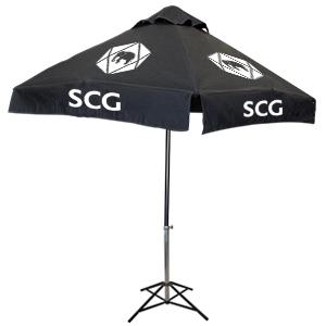 ร่มสกรีนร่มสนาม สีดำ SCG