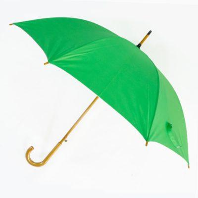 ร่มขายส่งโครงไม้24นิ้ว-สีเขียว-02