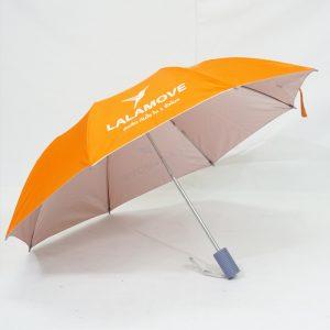 ร่มพับ2ตอน สีส้ม งานLalamove