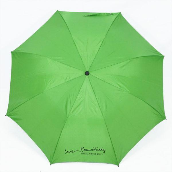 ร่มพับ2ตอน สีเขียว งานPaulMitchell