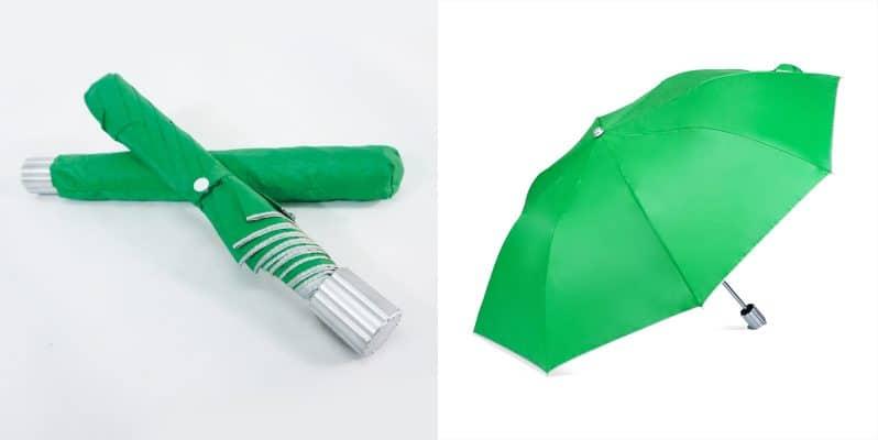 ร่มพับขายส่ง-สีเขียว