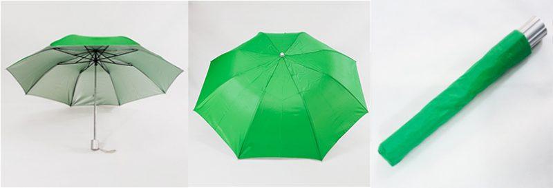 ร่มพับสีเขียว