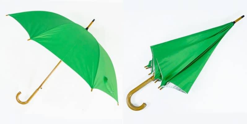 ร่มโครงไม้24นิ้ว-สีเขียว