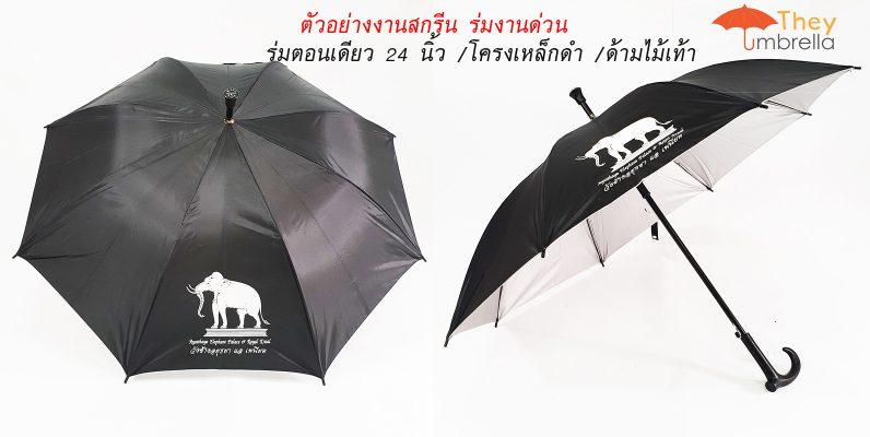 ตัวอย่างร่มตอนเดียวราคาถูกแบบมีงานสกรีนด่วน